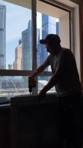 замена фурнитуры на окне Мукомольный 2